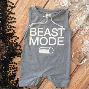 Other - Boutique Baby Boy BEAST MODE Romper